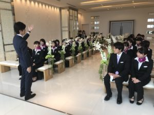 ブライダル総合科1年生がhakatagi業界見学に行ってきました