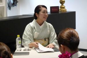 『加賀屋』 若女将小田様 特別講義