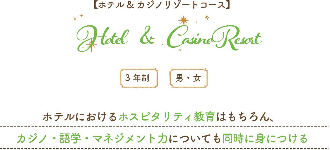 ホテル&カジノリゾートコース
